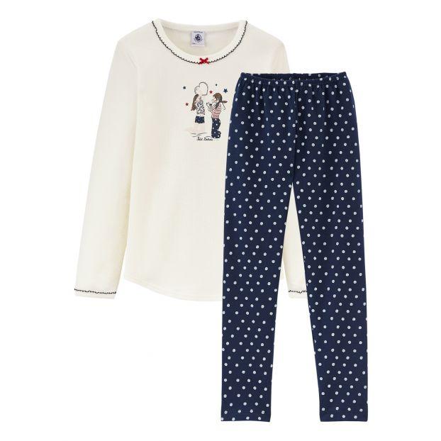 3ef2cce17c162 Pyjama Bretona Bleu marine Petit Bateau Mode Enfant