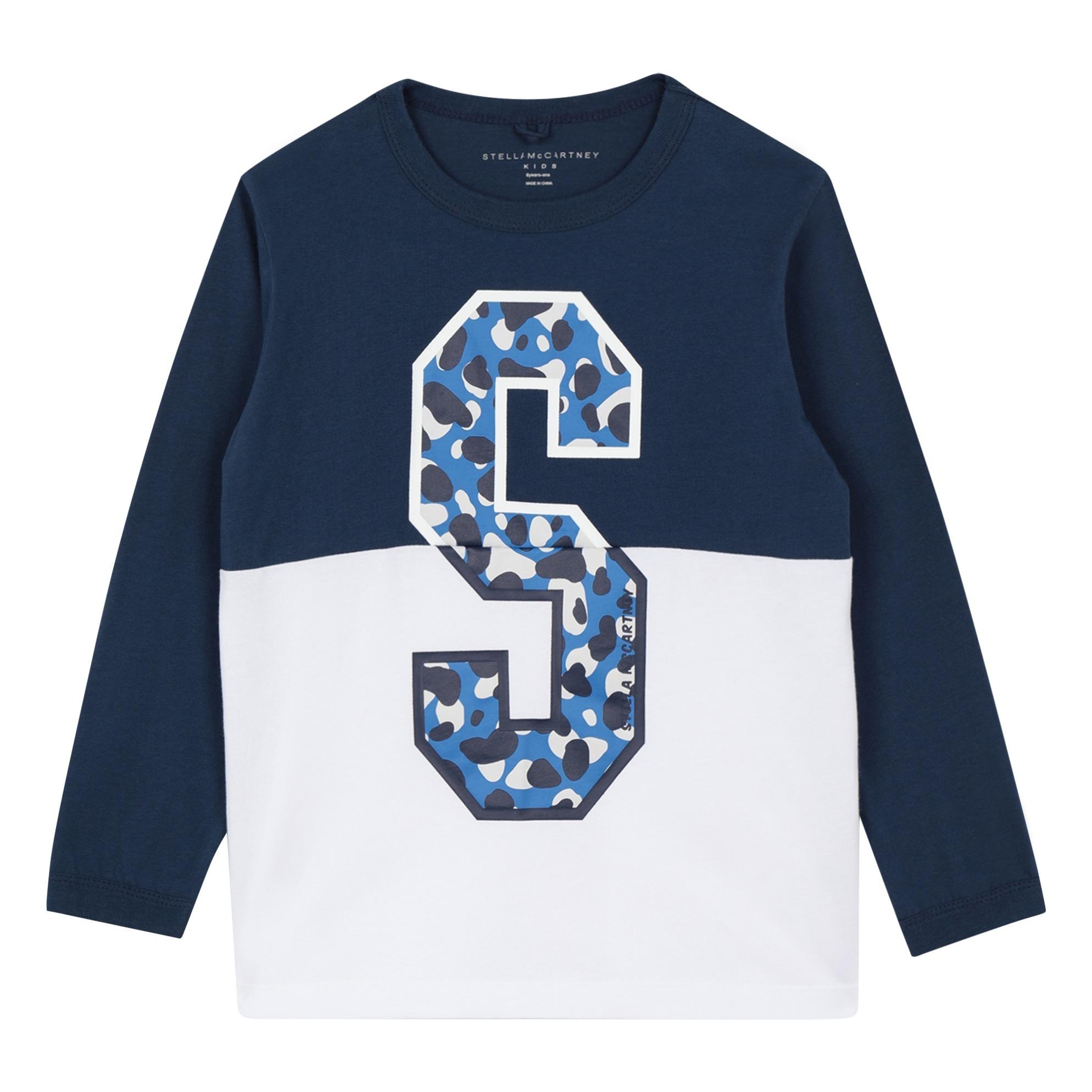 2a76db37836 Camo organic cotton T-shirt - Sport collection - Navy blue Stella