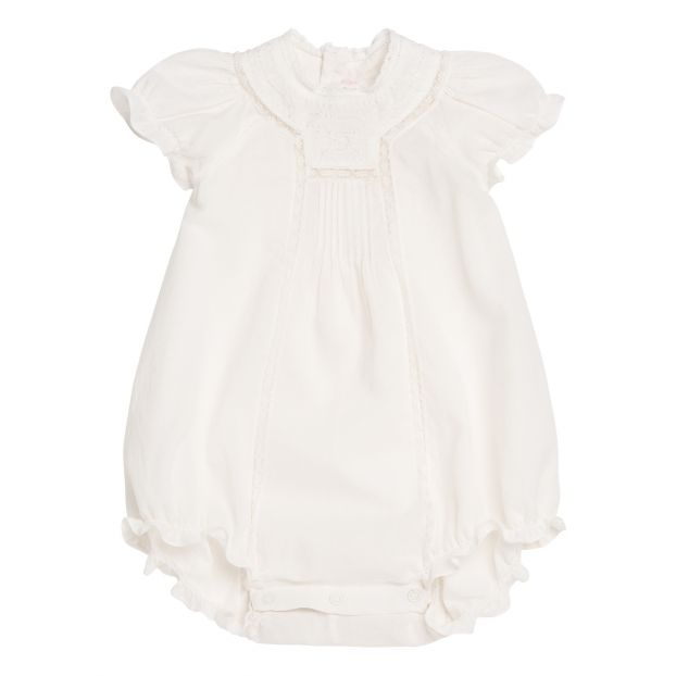 25195cda6a6 Lottie Embroidered Romper White Bonpoint Fashion Baby