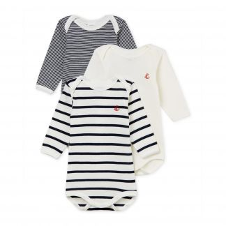13e144045 Petit Bateau Baby Grows - Set of 3-listing