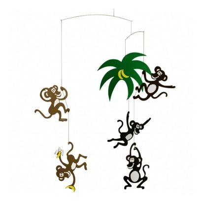 Mobile singes dans les arbres