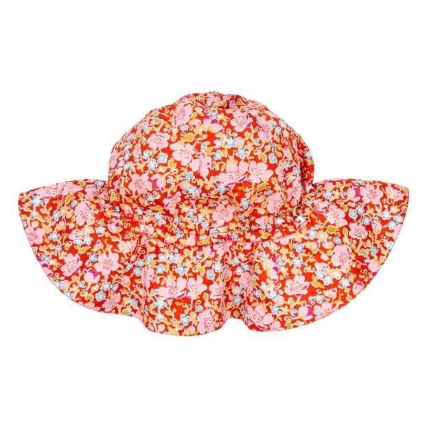 Cappello Liberty Gerbera Rosso Caramel Moda Bebè  96fed3e7b801