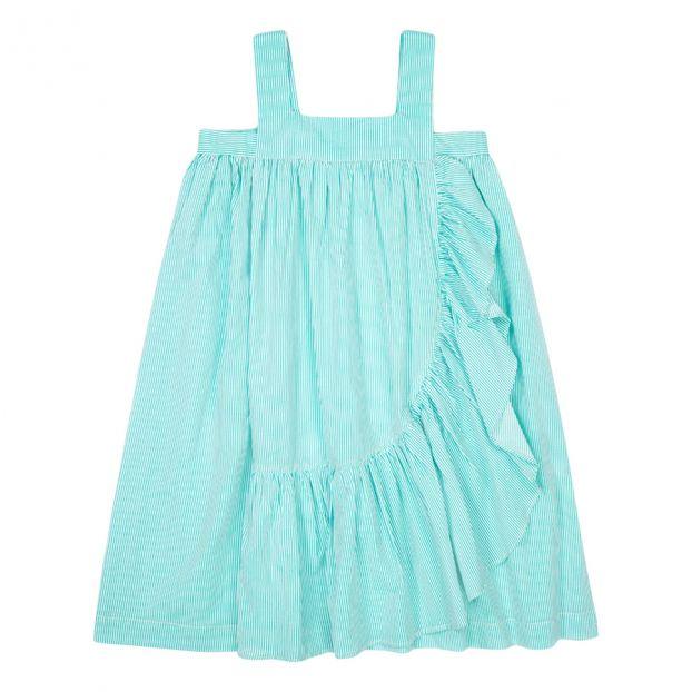 Vestiti Verde Tiffany Bambina.Vestito Peony Verde Acqua
