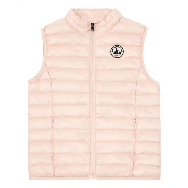 gros en ligne styles de mode luxe Doudoune Sans Manches Zoé Rose pâle