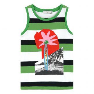 90f67865270c Stella McCartney Kids Striped organic cotton tank top-listing