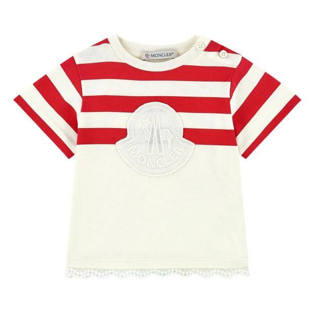 9595fd2e1ed2 Abito Striped Dress White Moncler Fashion Teen