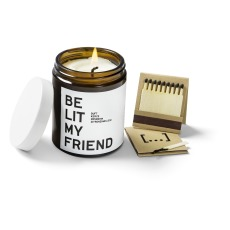product-Be Soap My Friend Scented Candle - Rosemary and Lemon Balm
