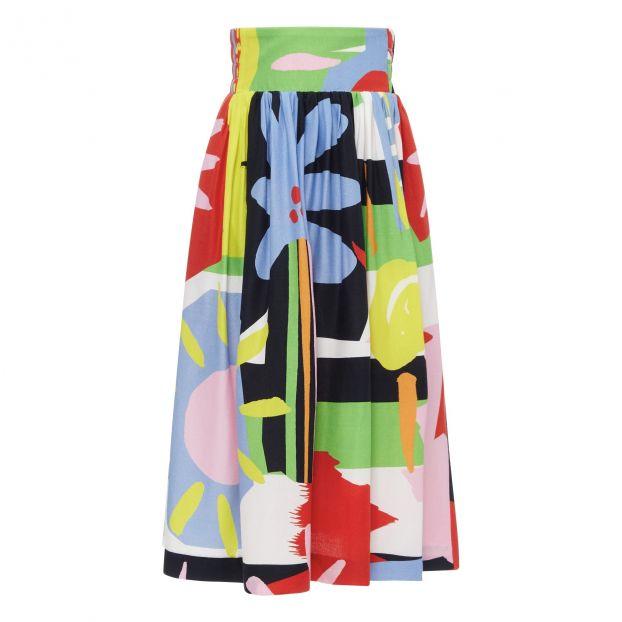 19326f38824 Jupe Longue Colorblock Multicolore Stella McCartney Kids Mode