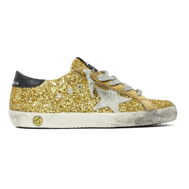 e4bc629f817e8 Superstar Glitter Trainers Gold Golden Goose Deluxe Brand Shoes