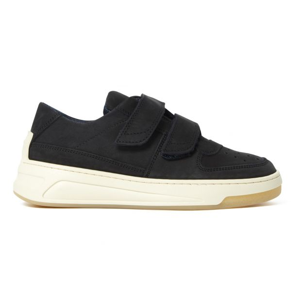 Leather Velcro Sneakers Black Acne