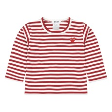 product-Comme Des Garçons Play Kids striped heart T-shirt