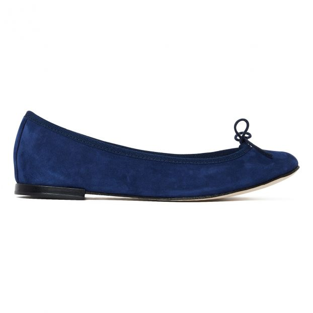6d9e31bb6e64b Cendrillon Suede Ballet Flats Navy blue Repetto Shoes Adult