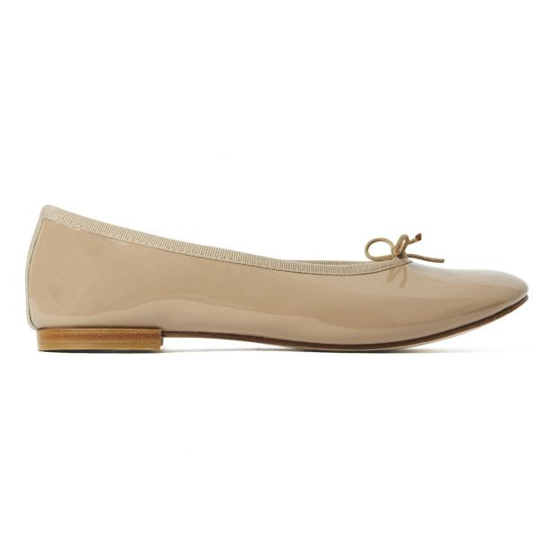cbc5cae43403e Cendrillon Leather Ballet Flats Camel Repetto Shoes Adult