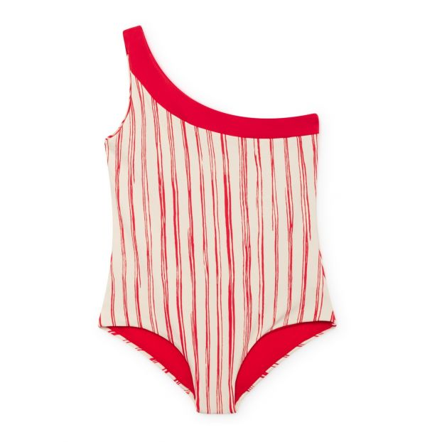 42935c2a7423 Bamboo 1 piece swimsuit Red Little Creative Factory Fashion Teen