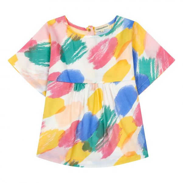 f99192d19427c Polka Dot Blouse Multicoloured Hundred Pieces Fashion Teen