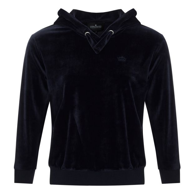 Frances Velvet Sweatshirt Navy blue Little Remix Fashion Teen  66133d1ec