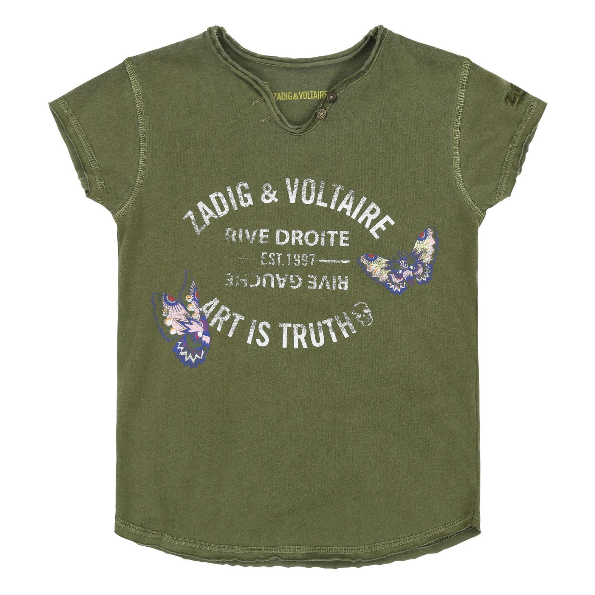 1a2321baa3dd Logo T-shirt Khaki Zadig   Voltaire Fashion Teen