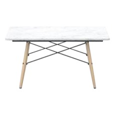 product-Vitra Mesa de centro cuadrada Eames Coffee Table, base de Fresno Miel, Charles & Ray Eames, 1953