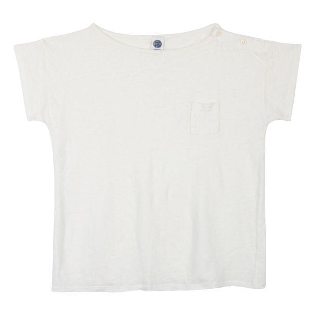 7abe68c0 Emilin linen T-shirt White Le Petit Germain Fashion Baby ,