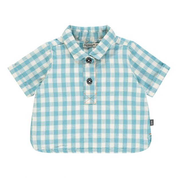a75c373e266 New-York Organic Cotton Shirt Light blue Imps   Elfs Fashion Baby