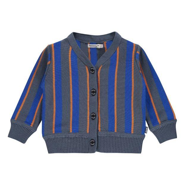 b7fd0961f95 Organic Cotton Baseball Cardigan Blue Imps   Elfs Fashion Baby