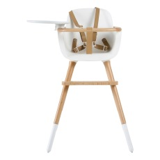 product-Micuna OVO LUXE CITY High Chair with Safety Harness in Faux-Leather, Beige