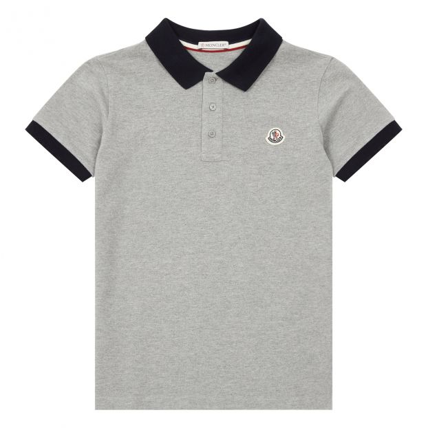 ac8434dfa Manica Corta Polo Shirt Grey Moncler Fashion Teen