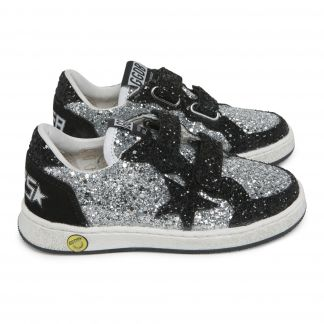 06bb3a1015f Francy Glitter Zip and Lace-Up Trainers Gold Golden Goose Deluxe