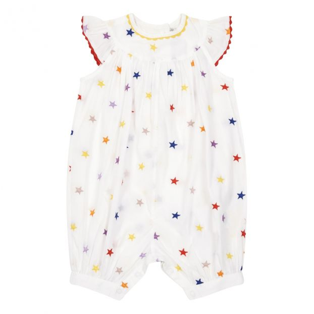 a1063f697b07 Stars organic cotton romper White Stella McCartney Kids Fashion
