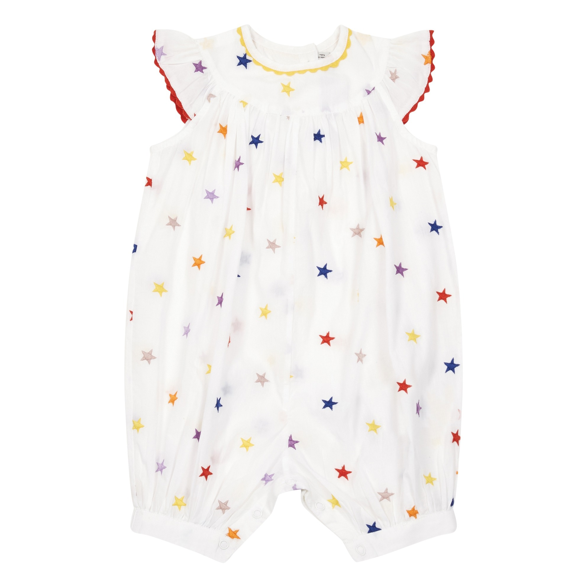 4bd1d25b1d1 Stars organic cotton romper White Stella McCartney Kids Fashion. «