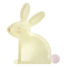 product-Meri Meri Assiettes en carton lapin - Set de 8
