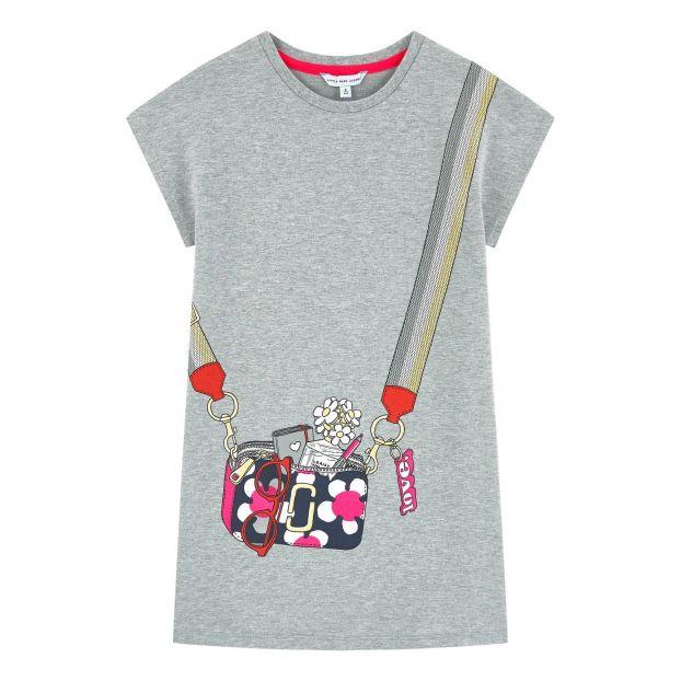 b98525026526 Trompe l oeil dress Heather grey Little Marc Jacobs Fashion