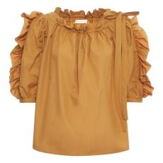 product-See by Chloé Ruched-Sleeve Blouse