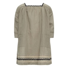 product-Caramel Hyacinth linen and cotton dress