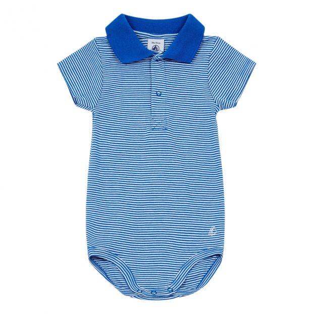 32aa69ee1 Striped Bodysuit Blue Petit Bateau Fashion Baby