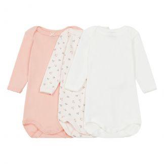 bc80f007c3d Petit Bateau Baby Girls  Long-Sleeved Bodysuit - Set of 3-product