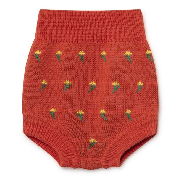 12158a5fa Organic cotton knitted bloomers Red Bobo Choses Fashion Baby
