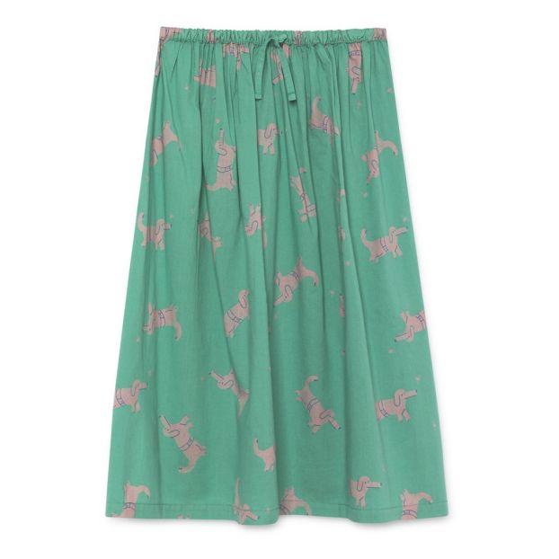 3f5ec553c3e7 Dog printed organic cotton maxi skirt Green Bobo Choses Fashion