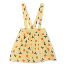 product-Bobo Choses Cotton and linen checkered skirt