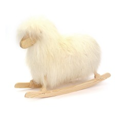product-Danish Crafts-Povl Kjer Rocking sheep - white