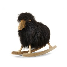 product-Danish Crafts-Povl Kjer Rocking sheep - black