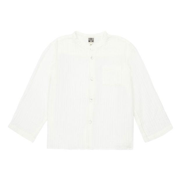 5cc2d186d Internet waffled shirt White Bonton Fashion Baby