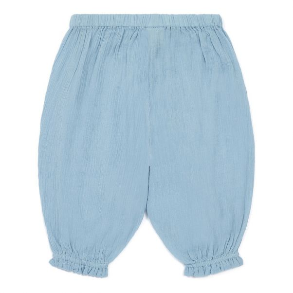 Ado Crepe Sirwal Trousers Light Blue Bonton Fashion Baby