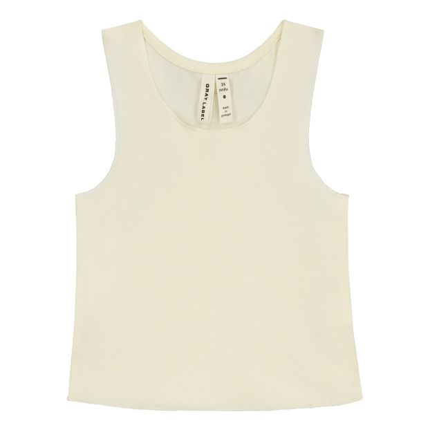 bfba57b035d566 Organic cotton baby tank top Ecru Gray Label Fashion Baby