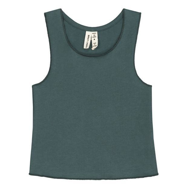 8ac0d673e75c01 Organic cotton baby tank top Grey blue Gray Label Fashion Baby