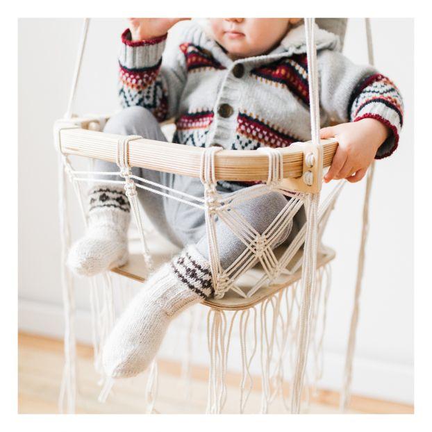 Balançoire bébé en crochet Blanc Nature King Jouet et Loisir