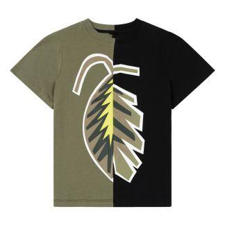 5149aad313b02 Stella McCartney Kids T-Shirt Coton Bio Palm Leaf-listing