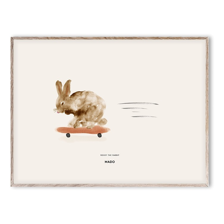 Poster Rocky the Rabbit 30x40 cm