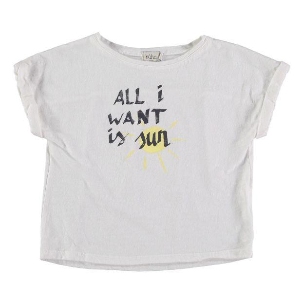 4b7dcafe5acd6b T-Shirt aus Bio-Baumwolle Nathalie Weiß Buho Mode Kind