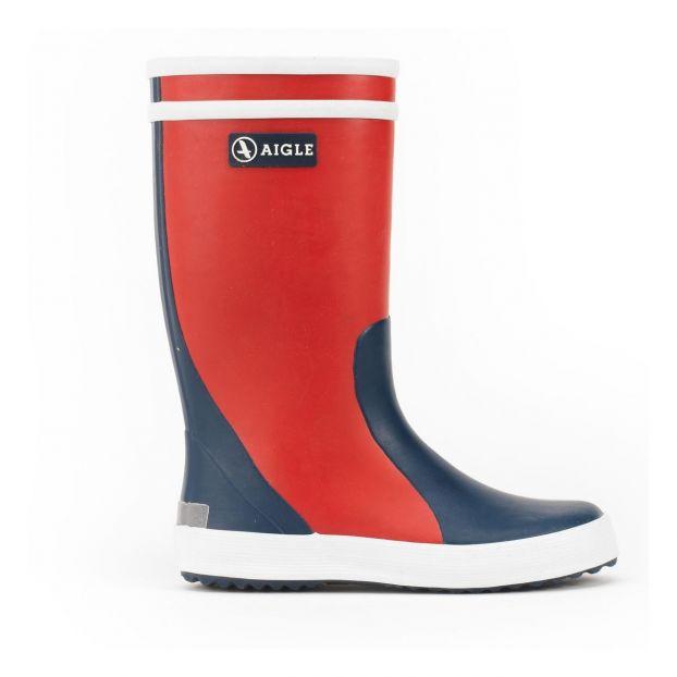 d18ba99a3 Botas de lluvia Lolly Pop Bicolores Rojo Aigle Calzado Infantil